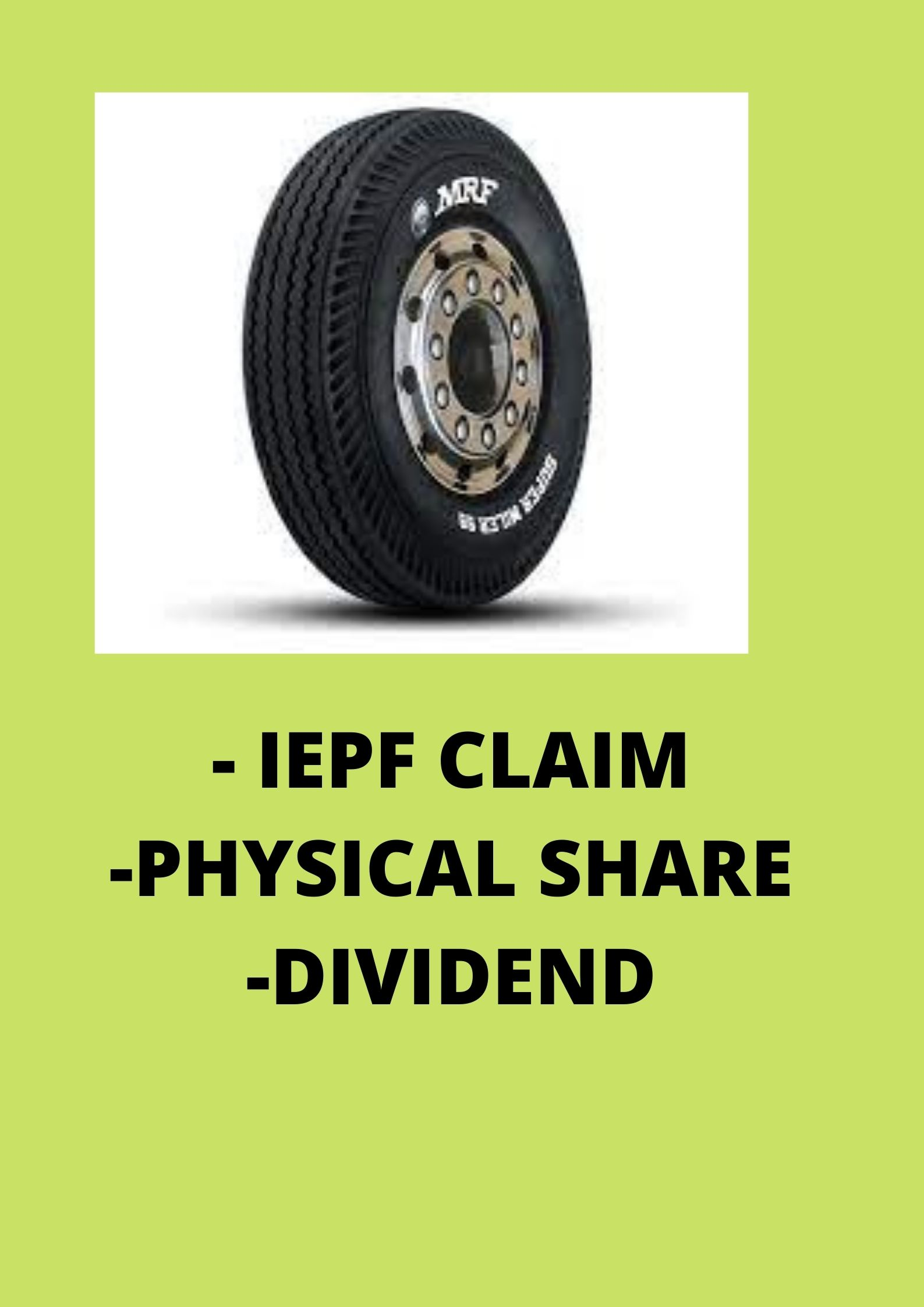 All about IEPF claim of MRF shares / unclaimed dividend of MRF shares