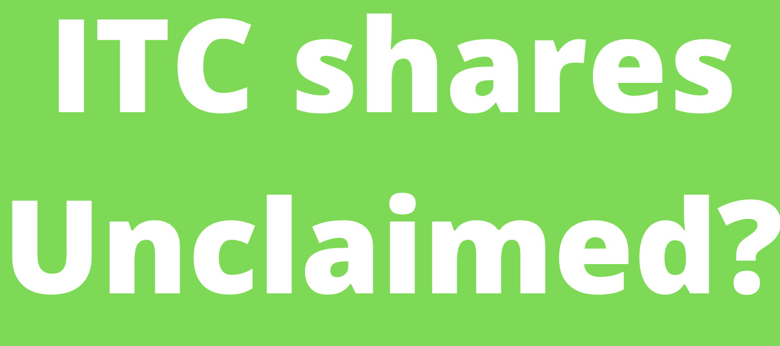 Whom to connect for  IEPF claim of ITC shares / unclaimed dividend of ITC shares ?